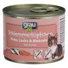 Grau Gourmet spannmålsfritt, Kalkon lax & makrill