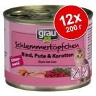 Бонус опаковка Grau Kitten Gourmet без зърно 12 x 200 г