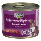 Grau menu gourmand sans céréales 6 x 200 g pour chat