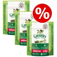Greenies Canine Dental Chews Saver Pack 3 x 170g