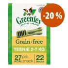 Greenies snacks dentales sin cereales para perros 170 g ¡a precio especial!