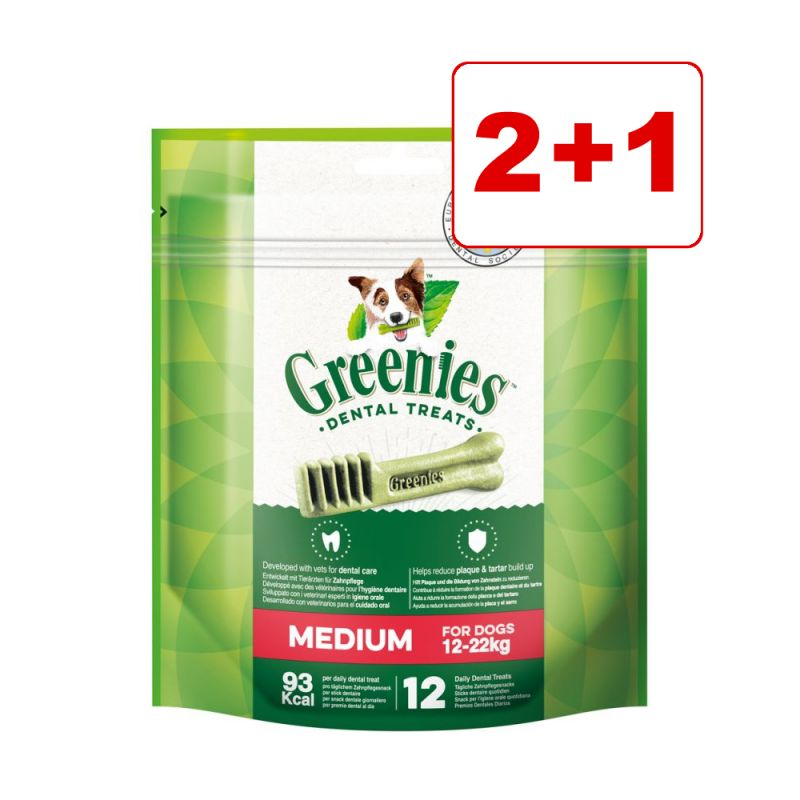 Greenies-hammashoitoherkut 3 x 85 g: 2 + 1 kaupan päälle!