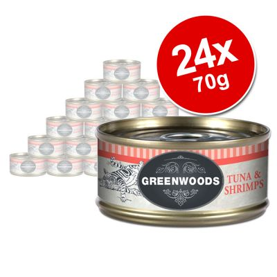 Greenwoods Adult Wet Cat Food Saver Pack 24 x 70g