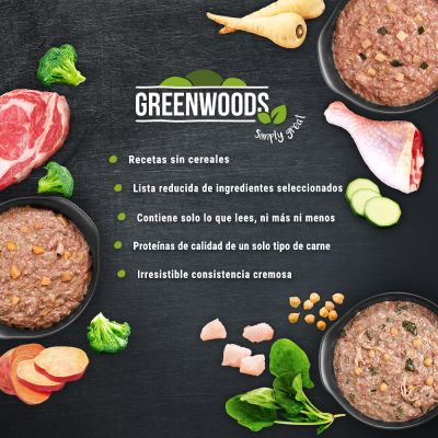 Greenwoods Adult 24 x 400 g - Pack Ahorro