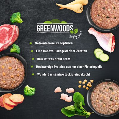 Greenwoods Adult 24 x 800 g - Pack económico