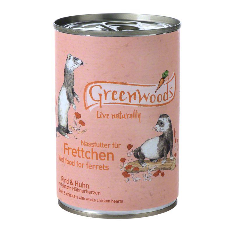 Greenwoods con vacuno y pollo para hurones