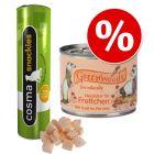 Greenwoods влажный корм для хорьков + Cosma snackies