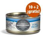 Greenwoods latas 12 x 70 g en oferta: 10 + 2 latas ¡gratis!