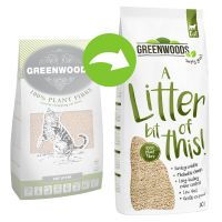 Greenwoods Plant Fibre Natural Clumping Litter