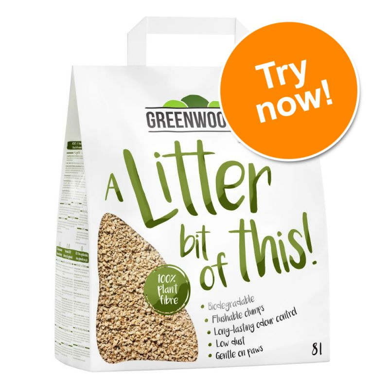 Greenwoods Plant Fibre Natural Clumping Litter Trial Pack
