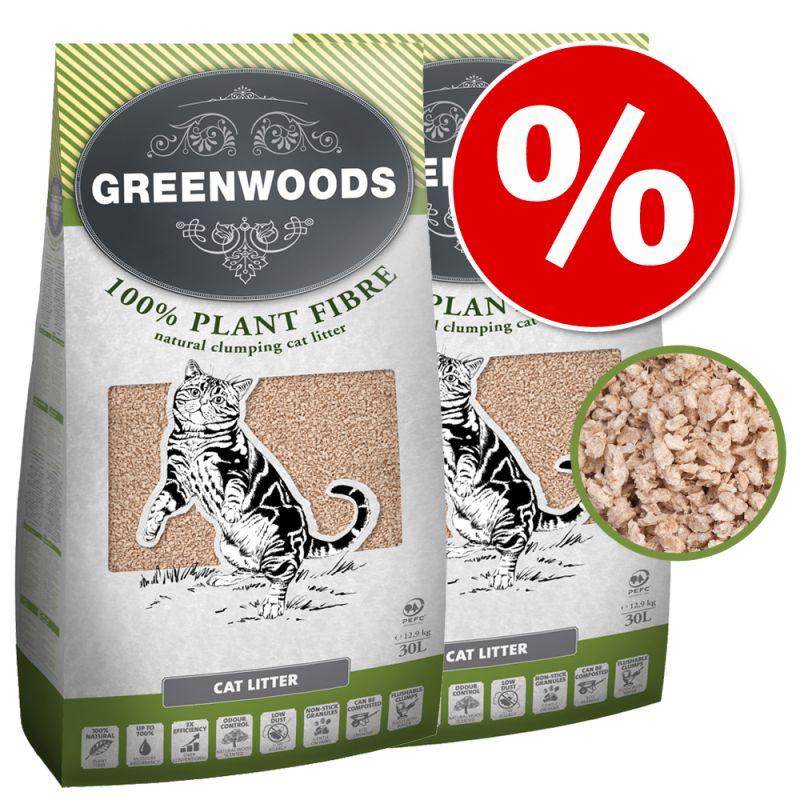 Greenwoods Plant Fibre -säästöpakkaus 2 x 30 l