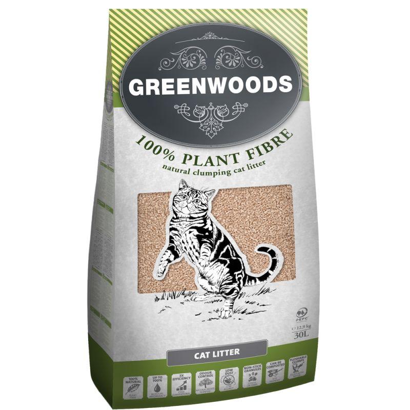 Greenwoods Plant Fibre: Växtbaserat klumpbildande strö