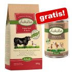 Großgebinde Lukullus Trockenfutter + 6 x 400 g Lukullus Nassfutter gratis!