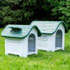 HAFENBANDE Kunststoffhundehütte Cottage