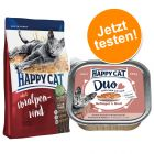 Happy Cat Adult 1,4 kg + 12 x 100 g Happy Cat Duo pour chat
