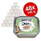 Happy Cat Duo Häppchen auf Paté Schälchen 48 x 100 g