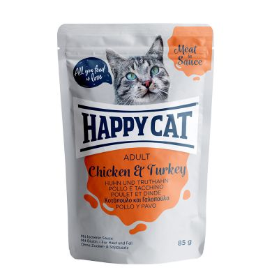 Happy Cat Meat in Sauce 24 x 85 g pour chat