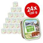 Happy Cat Minkas Duo Häppchen auf Paté Schälchen 24 x 100 g