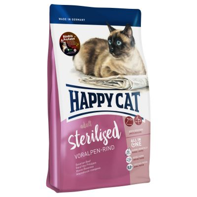 Happy Cat Supreme Sterilised, bœuf des Préalpes