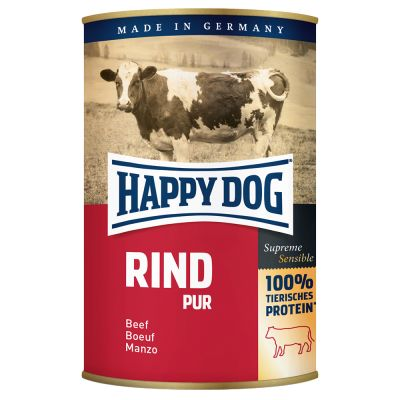 Happy Dog Flockenmixer 10 kg + 6 x 400 g Happy Dog Pur