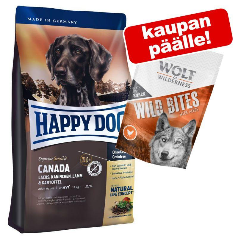 Happy Dog koiranruoka + Wolf of Wilderness -herkut 180 g kaupan päälle!