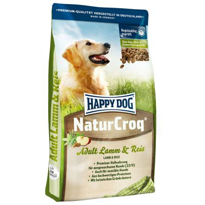 Happy Dog NaturCroq con cordero y arroz
