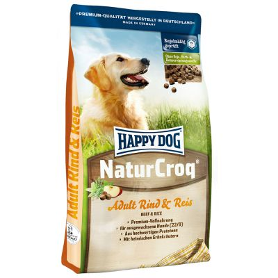 Happy Dog NaturCroq con vacuno y arroz