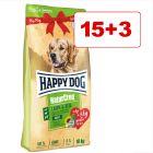 Happy Dog NaturCroq Lamb & Rice 18 kg: 15 + 3 kg kaupan päälle!