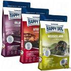 """Happy Dog Supreme """"Kulinarisk Jordomrejse"""", 3 x 4 kg"""