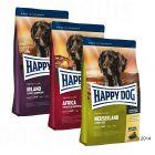 """Happy Dog Supreme """"kulinářská cesta kolem světa"""", 3 x 4 kg"""