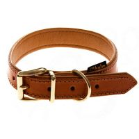 Heim Buffalo Dog Collar  - Cognac