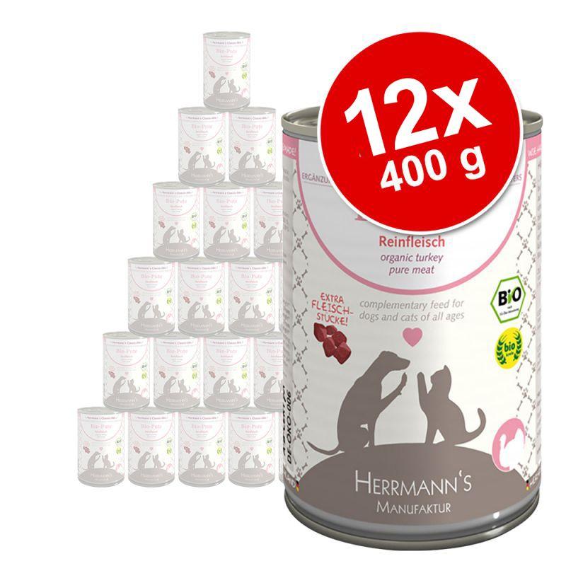 Herrmanns Pure Meat -säästöpakkaus 12 x 400 g
