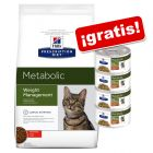 Hill's Metabolic Prescription Diet 8 kg pienso + 4 latas ¡gratis!