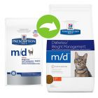 Hill's Prescription Diet Feline M/D Diabetes/Low fat Kattenvoer met Kip