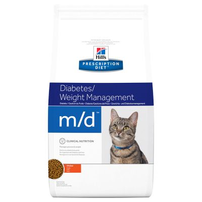 Hill's Prescription Diet M/D Weight Loss Diabetic Kattenvoer met Kip