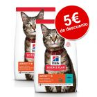 Hill's Science Plan 2 x 2,5 / 3 kg pienso para gatos ¡con descuento!