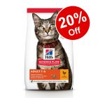 Hill's Science Plan Dry Cat Food - 20% Off!*