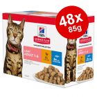Hill's Science Plan Wet Cat Food Pouches Mega Pack 48 x 85g