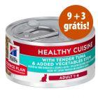 Hill's Adult Healthy Cuisine comida húmida 12 x 79 g em promoção: 9 + 3 grátis!