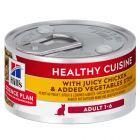 Hill's Adult Healthy Cuisine estofado con pollo y verduras para gatos