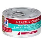 Hill's Adult Healthy Cuisine estufado com atum e vegetais para gatos