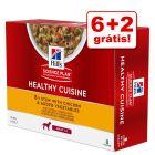 Hill's Adult Healthy Cuisine 8 x 80 g em promoção: 6 + 2 grátis!