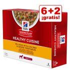 Hill's Adult Healthy Cuisine 8 x 80 g en oferta: 6 + 2 ¡gratis!