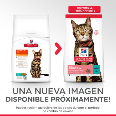 Hill's Adult Light con atún pienso para gatos