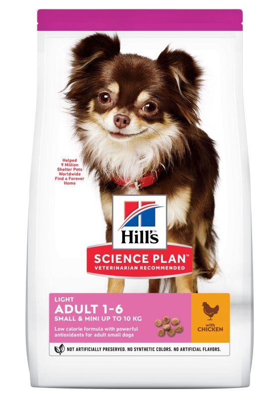 Hill's Adult 1-6 Light Small & Mini Science Plan con pollo