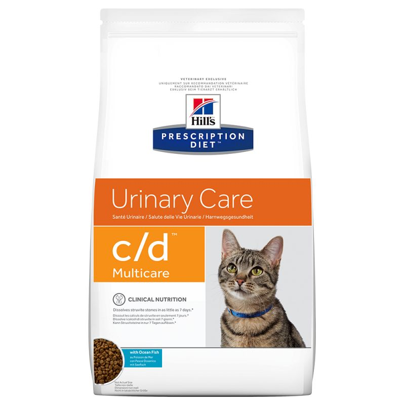 Hill's c/d con pescado azul Prescription Diet Urinary Care pienso para gatos