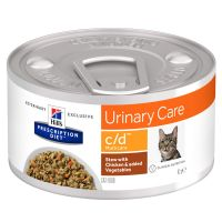 Hill's c/d Prescription Diet Urinary Care estofado con pollo para gatos