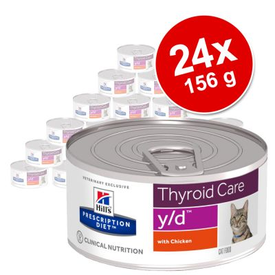 Hill's Feline Prescription Diet Cans Saver Pack 24 x 156g