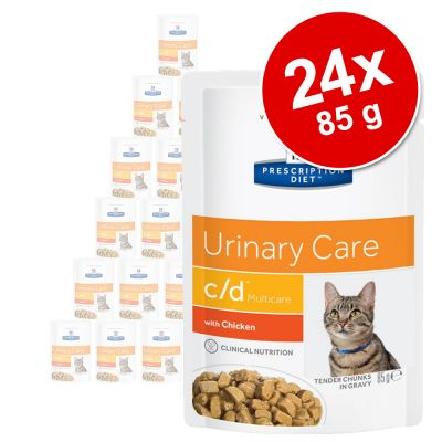 Hill's Feline Prescription Diet Pouches Saver Pack 24 x 85g