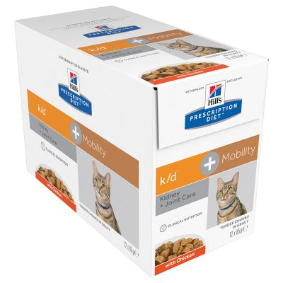 Hill's k/d + Mobility Prescription Diet sobres para gatos